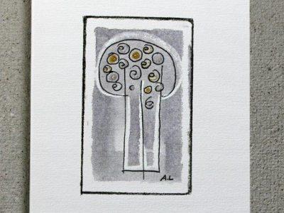 Albero di Natale con luci [stampa su cartoncino] - 1.20€