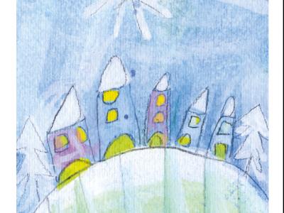 Borgo con cometa [stampa su cartoncino] - 1,50€ - 4000pz.