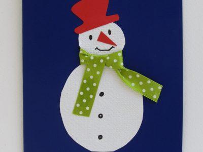 Pupazzo di neve [collage su cartoncino] - 2,50€ - 200pz.