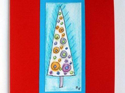 Albero di Natale astratto [decorazione a mano] - 1,80€