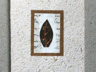 Foglia di Natale [decorazione e collage su biglietto in carta riciclata] - 2,40€